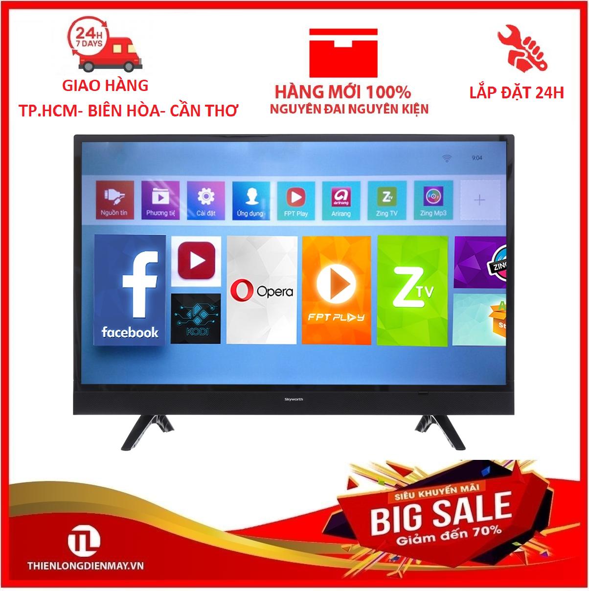 Smart Tivi Skyworth 32 inch HD 32S3A – Kết nối Bluetooth, Wifi. Công nghệ âm thanh Dolby, kho ứng dụng đa dạng – Bảo hành 2 năm