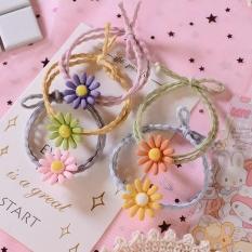[HCM][HCM- giá rẻ] Dây chun buộc tóc Hoa cúc họa mi phong cách Hàn Quốc- Chun đôi cực bền – có chọn màu – Selenshop