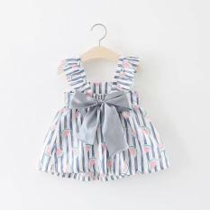 Váy bé gái họa tiết quả dưa hấu cực xinh
