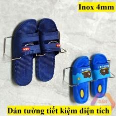 Kệ để giày, Giá treo giày dép Inox có móc dán dính tường, cửa thông minh,tiện dụng, tiết kiệm diện tích