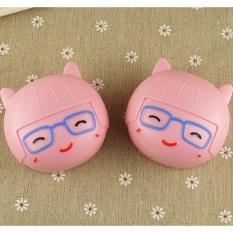 Khay pé ngố hồng kính xanh