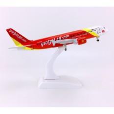 Mô hình máy bay Vietjet air 20cm có bánh xe