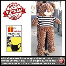 Gấu bông Teddy cao cấp 3 loại size 1,8m khổ vải (gấu cao 1,6m) 1,6m khổ vải (gấu cao 1,4m) và size1,4m khổ vải (gấu cao 1,2m) Màu nâu xám khói và màu hồng VNXK, quà tặng an toàn cho trẻ và người thân