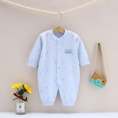 Body liền thân, bodysuit dài tay cotton họa tiết bình sữa cho bé trai và bé gái sơ sinh từ 3-13kg, hàng đẹp xuất Hàn