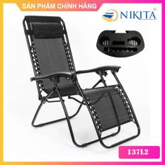 Ghế xếp thư giãn – Kèm khay để ly tiện lợi – Hàng chính hãng NIKITA