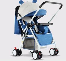 Xe nôi xe đẩy em bé hai chiều Haowei T305 bản cao cấp hai tư thế nằm ngồi siêu nhẹ có thể gấp xách tay cho bé 0-3 tuổi
