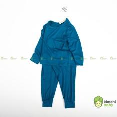 Đồ Bộ Bé Gái, Bé Trai Minky Mom Vải Thun Lạnh Basic Mềm Mịn, Quần Áo Trẻ Em – Bộ Dài Tay Cho Bé Mặc Nhà MKMTD2101