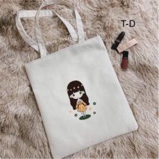 Túi tote nữ cô gái hoạt hình