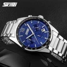 Đồng hồ Skmei chạy 6 kim dây thép không gỉ NP9096