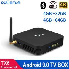 TX6 tivi box android 9.0 4GB RAM 32GB ROM Allwinner H6 Quad Core 6K smart TV box Trình phát đa phương tiện