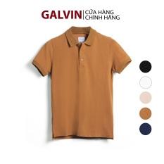 Galvin Store – Áo polo nam cổ bẻ chính hãng phối dệt lưới cổ và bo, chất cá sấu cotton co giãn mềm dáng ôm phong cách trẻ trung ( bộ 5 màu ) PLGV25 – LEO VATINO