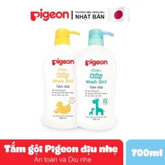 Sữa tắm gội toàn thân cho bé Pigeon dịu nhẹ 700ml không làm cay mắt và an toàn cho trẻ sơ sinh – TINI KIDS PLAZA