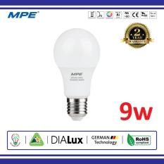 Đèn Led Bulb 9W MPE, Ánh Sáng Liên Tục Không Nhấp Nháy Tốt Cho Thị Lực, Kiểu Dáng Đẹp, Dễ Dàng Tháo Lắp