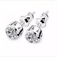 Bông Tai Nam Fewelry 1 Hạt Đá Titan Không Đen (2 chiếc)