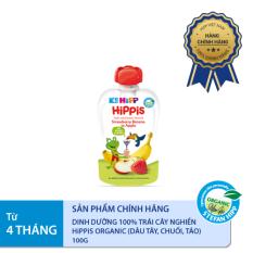 [FREESHIP] Dinh dưỡng 100% trái cây nghiền hữu cơ HiPPiS Organic (Dâu tây, Chuối, Táo)