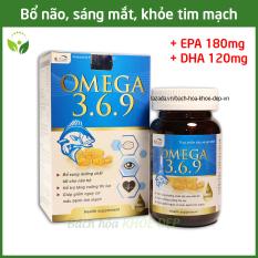 Viên dầu cá Omega 369 bổ não, sáng mắt, khỏe tim mạch cho người trên 6 tuổi – Hộp 60 viên Omega 1000mg, EPA 180mg, DHA 120mg