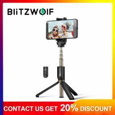 【Free Vận Chuyển + Siêu Đối Phó + Hạn Chế Offer】BlitzWolf BW-BS3 3 trong 1 bluetooth Mini Ổ Cắm Kéo Dài Cao Cấp Gấp gọn Gậy Chụp Hình Selfie Stick Đen