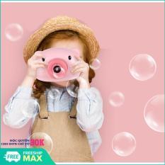 Máy ảnh thổi bong bóng có nhạc và đèn siêu dễ thương cho bé hình heo ngộ nghĩnh (Hồng)