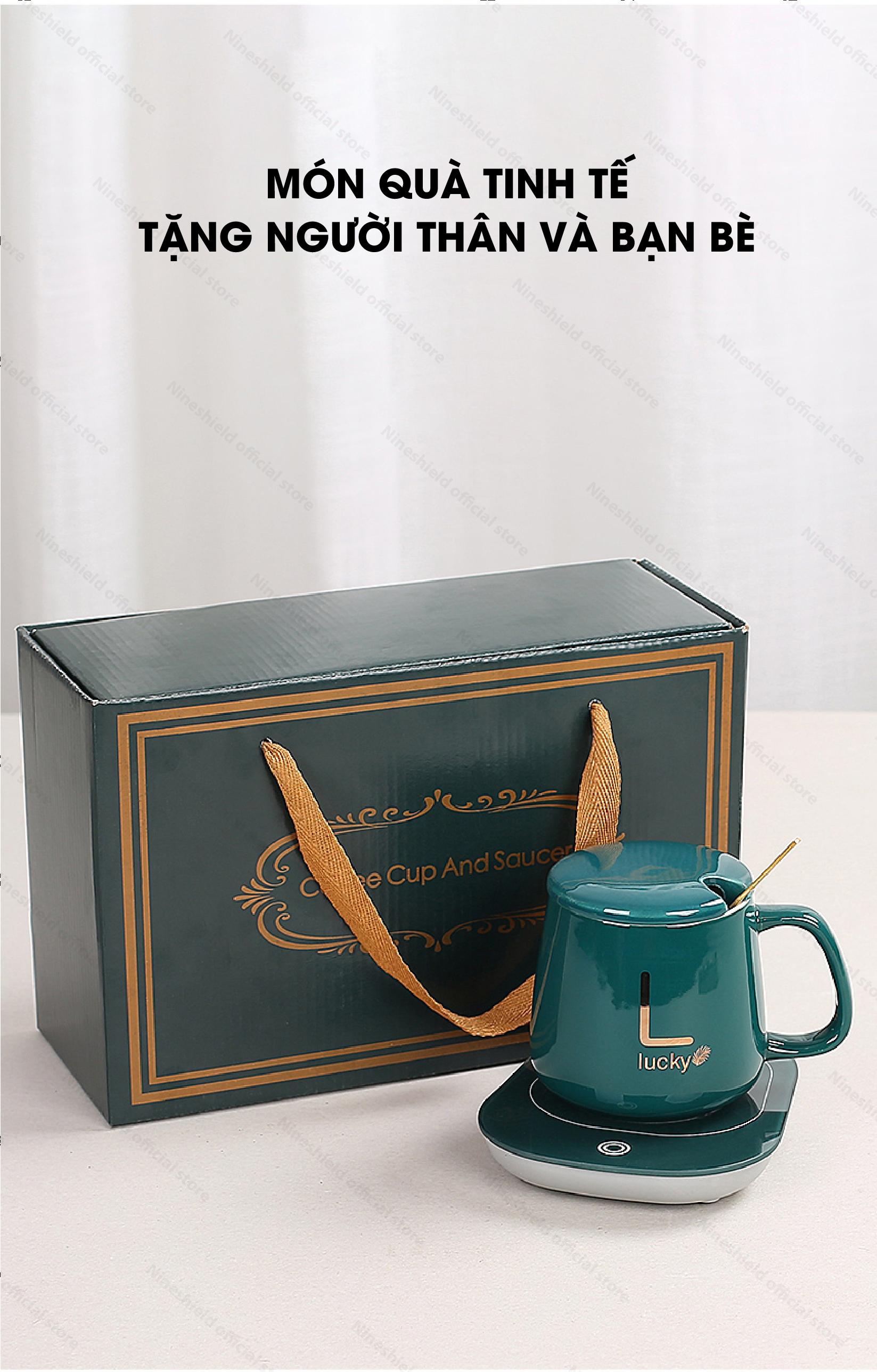 Bộ cốc hâm nóng cafe, trà Nineshield NSC02 Lucky