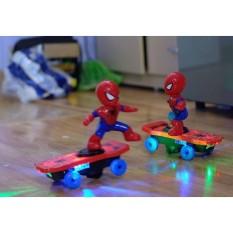 (ẢNH THẬT+GIẢM CỰC SỐC) Bộ trò chơi siêu nhận người nhện dùng pin biết trượt ván, phát sáng, có nhạc, kích thích khả năng âm nhạc cho bé, thiết kế cực kì chắc chắn, chịu được va đập mạnh, Do choi nguoi nhen luot van cao cap