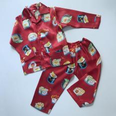 Pijama phi bóng cho bé hình Sushi đỏ 10-45kg