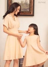 Đầm cho bé gái tay con mát mẻ dễ thương xinh xắn GUMAC DKA425 màu Hồng ( dành cho bé gái từ 2 tuổi đến 9 tuổi)
