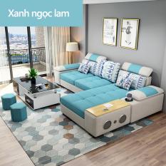 ghế sô pha 3 chỗ ngồi có kèm loa bluetooth bộ ghế sô pha cho phòng khách căn hộ nhỏ đơn giản có thể tháo ra giặt