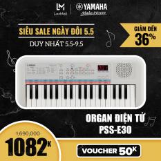 【Giá chỉ 1.082K】Đàn organ điện tử Yamaha cho trẻ em PSS-E30 – Bàn phím mini – 47 Tiếng nhạc – 28 Kiểu nhạc đệm – 74 Hiệu ứng âm thanh – Chế độ đố vui – Bảo hành chính hãng 12 tháng
