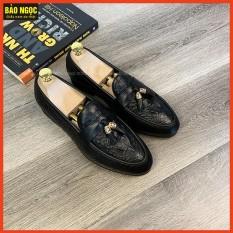 {XẢ KHO 6 NGÀY} Giày Lười Nam Da mềm Dập Vân Cá Sấu ✅ Băng Chuông Thời Trang 🎁 Đế Cao Su Đúc Cao 3cm ✅ Mã K1868