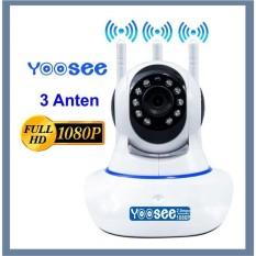 Camera Yoosee 3 Râu Full Hd 1080P, camera trong nhà, ngoài trời,góc quay rộng, đàm thoại 2 chiều, có thẻ nhớ-phukienduonghien