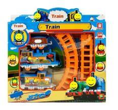 Đồ Chơi Đường Ray Xe Lửa Train Play Set tặng kèm pin.