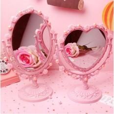 Gương soi để bàn PINK047 Pink Xinh Decor gương soi trái tim tiểu thư màu hồng