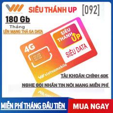SIM 4G MAX ( Không Gới Hạn DATA ) Siêu Thánh Sim UP | Đầu Số 092 ( Vietnammobile 2020 )