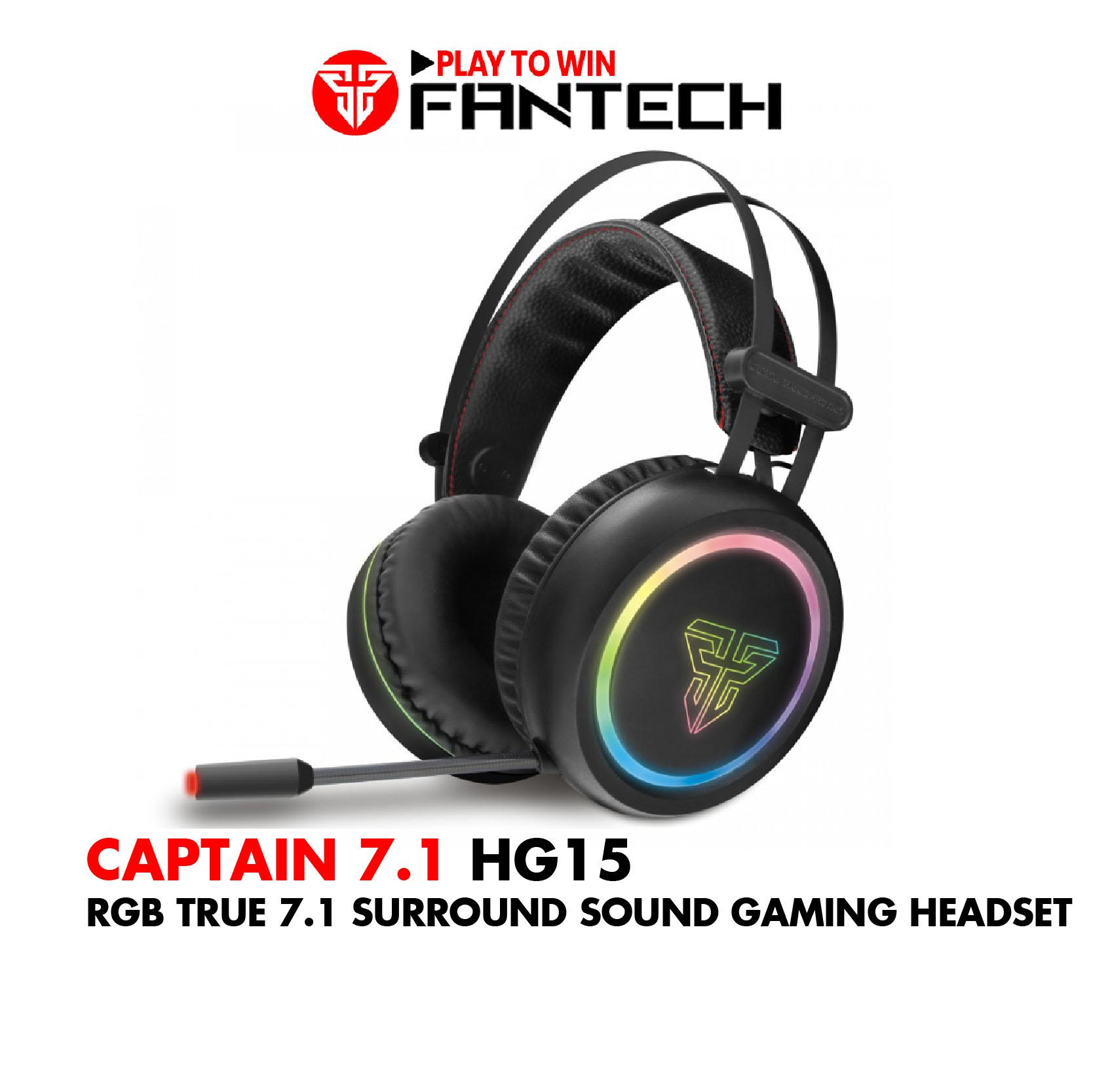 Tai Nghe Gaming Chụp Tai Có Dây Fantech HG15 CAPTAIN Chất Lượng Âm Thanh 7.1 LED RGB 16,8 Triệu Màu...
