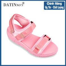 Giày Sandal Nữ Quai Ngang Sandal Nữ Đế Bằng DATINNOS (Hồng) – DT32