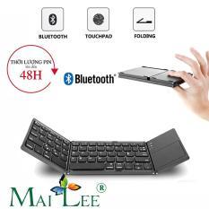 [Video Thực Tế] Bàn phím không dây Bluetooth có track pad gấp gọn cho điện thoại/ máy tính bảng/ PC/ Laptop/ Android box bảo hành 1 đổi 1 – Mai Lee