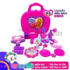 Bộ đồ chơi thông minh cho bé mẫu đồ chơi trang điểm cho bé gái kiểu vali màu hồng nhiều chi tiết dễ thương cho bé phát triển trí tuệ 1598AB – Thị trấn đồ chơi