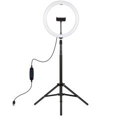 (FREESHIP) Bộ đèn livestream 33cm chuyên dụng, 3 nguồn ánh sáng trắng, tự nhiên, vàng, Thân hợp kim chắc chắn cao 2m tùy chỉnh độ cao, BH 12 THÁNG