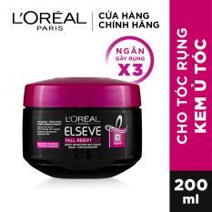 Kem ủ ngăn gãy rụng tóc L'Oreal Paris Elseve Fall Resist 3X 200ml
