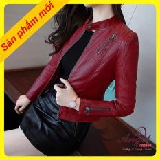 Áo khoác da nữ thái 2 lớp lót dù Angel Fashion P003
