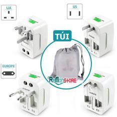 Ổ cắm điện quốc tế đa năng du lịch Universal Travel AC Adapter