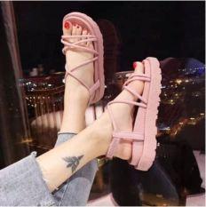 Giày sandal nữ nhựa dây tròn