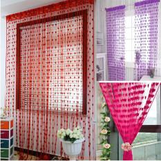 Rèm cửa, rèm cửa sổ trang trí nhà cửa, rèm cửa trái tim độc đáo chất liệu vải cotton mềm mại có kích thước 200cmx100cm