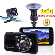 Camera Hành Trình Xe Hơi Xe Tải Trước và Sau ONTEK T8 Full HD Tích Hợp 8 Đèn LED