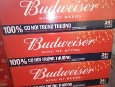 Bia Budweiser lon 330ml x 24 [hàng mới date t3/2020]