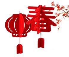 Lồng đèn Xuân trang trí Tết – NHỎ – bằng mút xốp