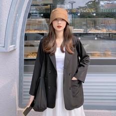 Áo khoác vest blazer nữ phong cách hàn quốc 2 túi dán
