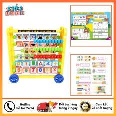 Bảng chữ cái đồ chơi kèm số đa năng cho bé phát triển tư duy
