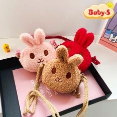 [HCM]Túi thỏ bông đeo chéo đáng yêu đủ màu sắc tươi tắn cho bé yêu diện đi chơi Tết lung linh Baby-S – STX038