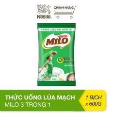 Thức uống lúa mạch Milo 3 trong 1 (bịch 600g)